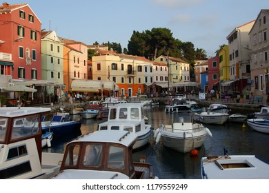Veli Losinj / Croatia - September 5, 2008: Harbor in little town Veli Losinj