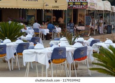 Veli Losinj / Croatia - September 5, 2008: Restaurant in Veli Losinj.