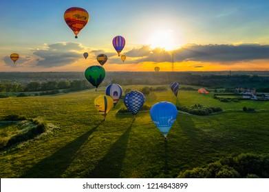 Velikie Luki,  Pskov region / Russia - 06.12.2012: The XVII-th Velikie Luki International Balloon Meet