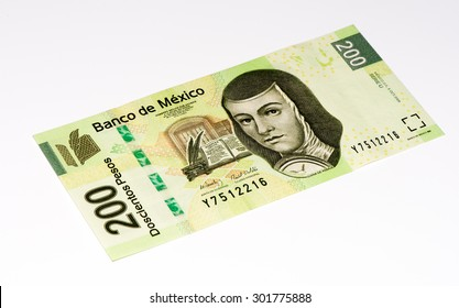 VELIKIE LUKI, RUSSIA - JULY 30, 2015: 200 Mexican pesos bank note made in 2009