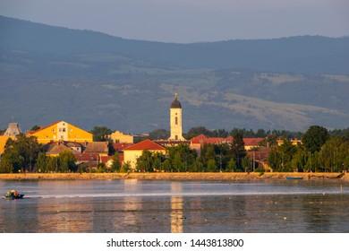 Veliko Gradiste town panoramic view - Serbia