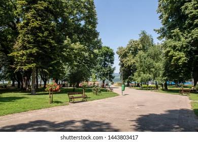 Veliko Gradiste town Serbia - central park