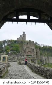 VELIKO TARNOVO, BULGARIA - APR 15, 2019 - Gateway of the Fortress Tsarevets, Veliko Tarnovo, Bulgaria