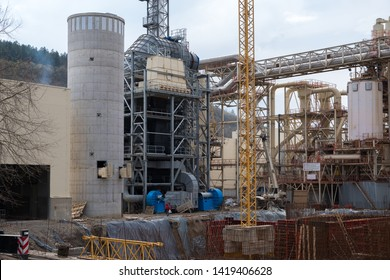 Veliko Tarnovo, Bulgaria - April 07.2018: Construction of air pollution control equipment as electrostatic precipitator ESP and dust filter in factory.