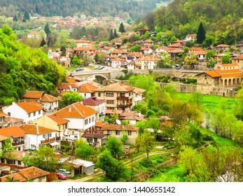 VELIKO TARNOVO, BULGARIA - APRIL 18, 2019: Old Town Veliko Tarnovo, Bulgaria