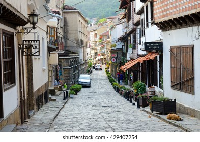 VELIKO TARNOVO, BULGARIA - AUGUST 06, 2015: Local street.