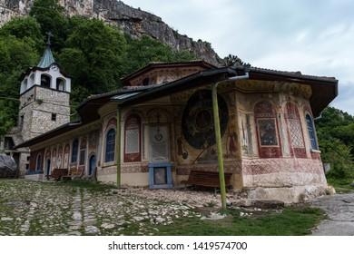 Veliko Tarnovo, Bulgaria - May 8, 2019: Medieval Orthodox Monastery of the Holy Transfiguration of God, Veliko Tarnovo region