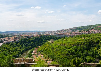 Veliko Tarnovo panorama from Tsarevets hill, Bulgaria.