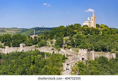Veliko Tarnovo, Tsarevets fortress in Bulgaria
