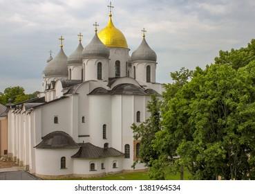 Veliky Novgorod, Russia. 17.06.12. St. Sophia Cathedral in the Kremlin of Novgorod