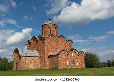 Veliky Novgorod.Russia.Church of the Savior on Kovalev.Old Orthodox Church of 12 centuries