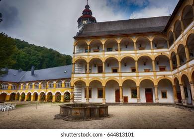 velke losiny castle as very nice czech historical building