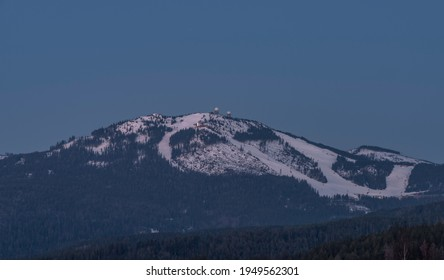 Velky Javor hill in winter sunrise morning in Germany mountains - Shutterstock ID 1949562301