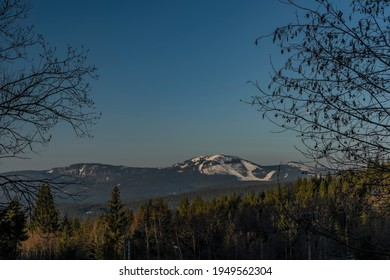 Velky Javor hill in winter sunrise morning in Germany mountains - Shutterstock ID 1949562304
