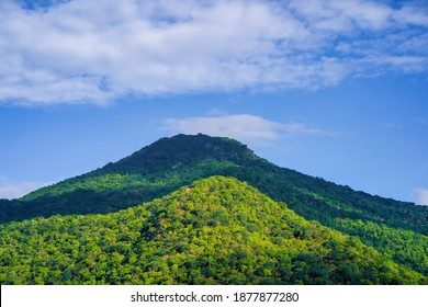 The Velliangiri Mountains part of the Nilgiri Biosphere Reserve  Beautiful sunrise over the mountain range at theWestern Ghats border of Coimbatore district, Tamil Nadu