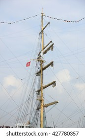 Velsen, The Netherlands - August 19 2015: Sail Amsterdam 2015 The Sail-in parade, opening ceremony of the Sail Amsterdam event, every five year since 1975.