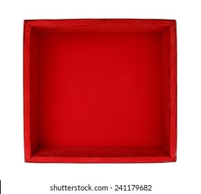 Velvet box isolated on white background
