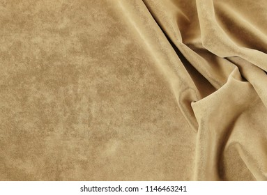 velvet texture pastel gold colors background, expensive luxury, fabric, material, needlework, sewing, wallpaper, cloth. copy space