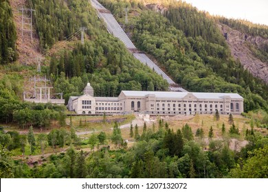 Vemork Hydroelectric Power Station at Rjukan, a part of Rjukan-Notodden UNESCO Industrial Heritage Site, known for Norwegian heavy water sabotage