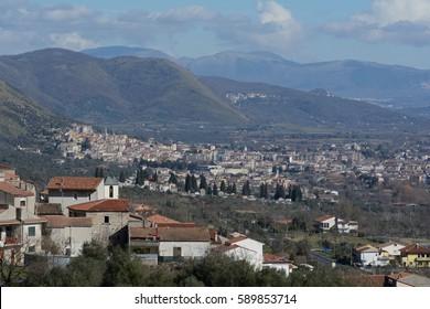 Venafro landscape, the city of Molise, Italy