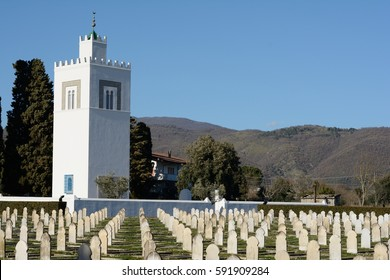 VENAFRO March 1, 2017: French National Cemetery of World War II, Venafro Italy, March 1, 2017. Editorial use