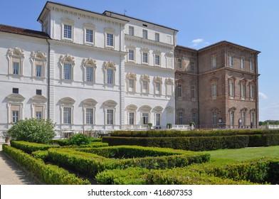 VENARIA, ITALY - CIRCA MAY 2016: Reggia baroque royal palace
