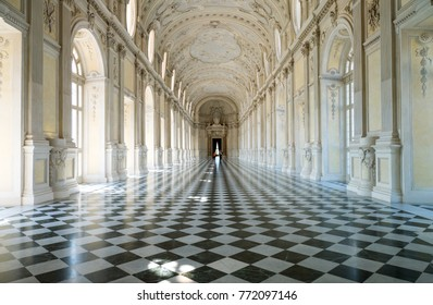 Venaria, Italy - June 19, 2014:  Royal Palace, the Great Gallery