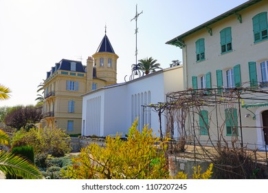 VENCE, FRANCE -21 APR 2018- View of the Chapelle du Rosaire (Matisse chapel) located in the historic medieval village of Vence in Alpes-Maritimes, Provence, France.