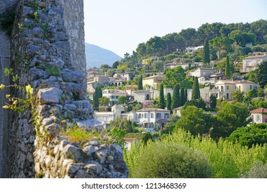 VENCE, FRANCE -21 APR 2018- View of  the village of Saint-Paul-de-Vence in Alpes-Maritimes, Provence, France.