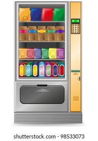 vending snack is a machine illustration isolated on white background