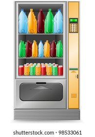 vending water is a machine illustration isolated on white background