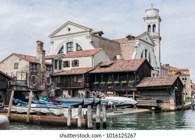 Venedig berühmte Gondelwerft