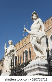 Venetian Arsenal mythological statues of Mars and Justice, made at the end of 17th century