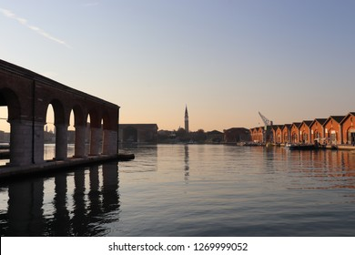 Venetian Arsenal in Venice, Italy