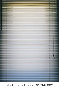 Venetian blinds background on the home window