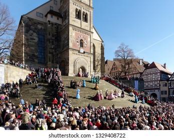 VENETIAN EXHIBITION in Schwaebisch Hall, Germany. February 24, 2019