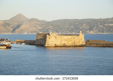 Venetian fortress Koules in Heraklion, Crete - view from the sea