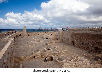 The Venetian fortress and port of the city of Iraklion