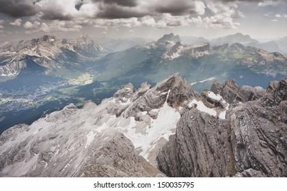 Venetian landscape of the alps