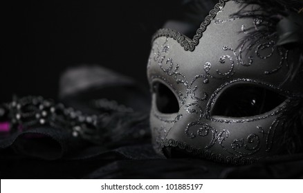 Venetian Mask, against black background