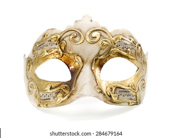 Venetian mask isolated on white background