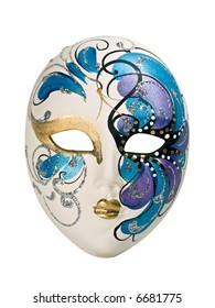 Venetian mask isolated on white.