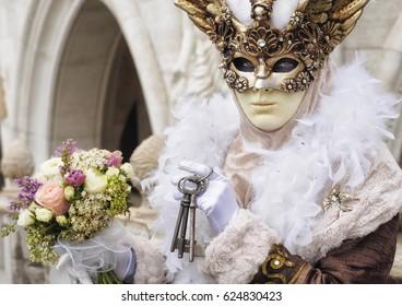 Venetian mask with key