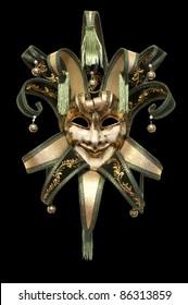 Venetian mask on a black background