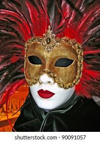 Venetian mask used for Carnival celebrations in Italy