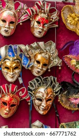 Venetian masks in different colors