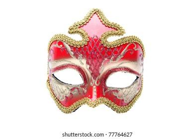 venetian masks isolated