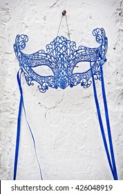 Venetian style  mask hanging with copy space