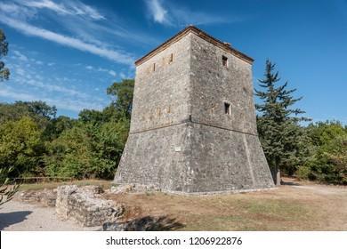 Venetian tower of Butrint ancient city, Albania