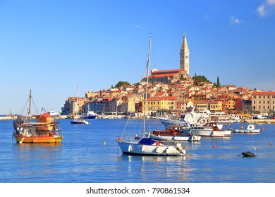 Venetian town of Rovinj near the Adriatic sea, Croatia